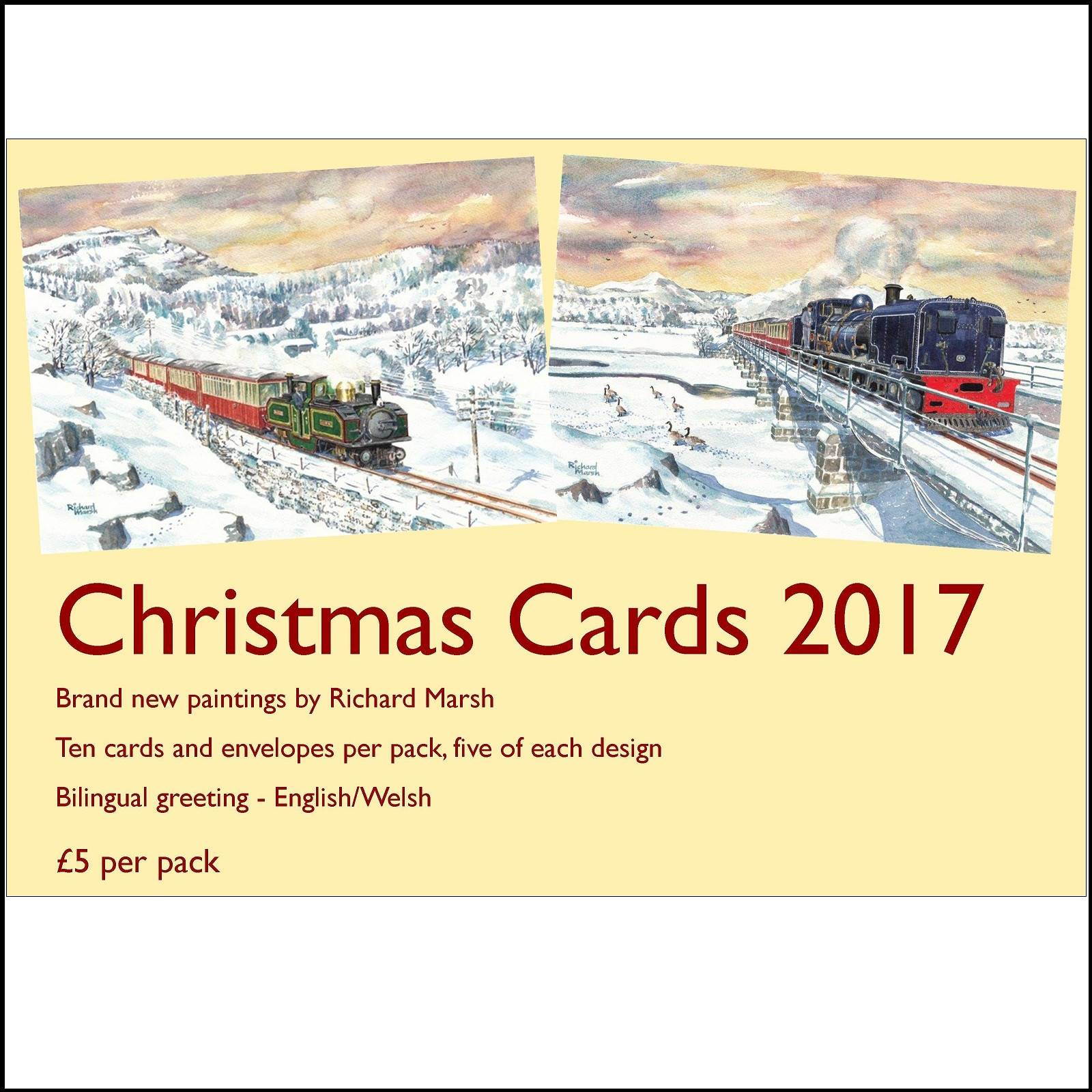 Buy christmas cards fwhr 2017 ffestiniog welsh highland railway christmas cards fwhr 2017 kristyandbryce Image collections